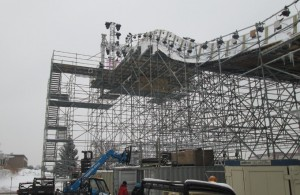 Scaffold for Sporting Event, Crashed Ice Scaffold