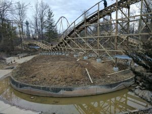 Mystic Timbers Roller Coaster Foundations